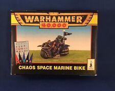 Warhammer 40k  Vintage Chaos Space Marine Bike Metal OOP RARE NIB