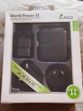 Jivo JI-1133 World Power 2 internacional doble USB para iPod y mucho más-Negro