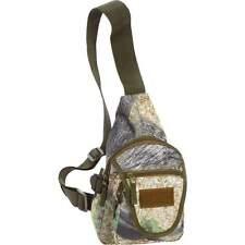 Outdoor Camo Shoulder Sling Backpack, Mens Small Hike Cross Sport Camp Hunt Bag