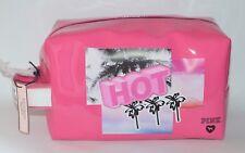 Nuevo Victoria's Secret Rosa Caliente Palma Árbol Neceser Maquillaje Funda Viaje