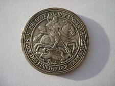 Deutsche Drei 3 Mark 1915 Mansfeld Preussen German