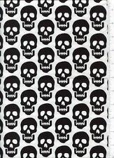 bad to the bone ~ SKULL ~ fabric robert kaufman