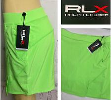 Ralph Lauren RLX Skort Skirt Green Pull On Golf Tennis Neon Green XS S M NWT$128
