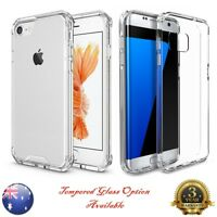 ULTRA HYBRID Shockproof Air Bumper Clear Hard Case Cover Samsung iPhone 6 7 8 +