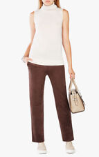 BNWT BCBG MAX AZRIA OMARI CHOCOLATE FAUX SUEDE TROUSERS SIZE M UK 12 RRP £168