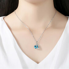Attractive Design Silver Women  Style Necklace Pendant Blue Stone Selling