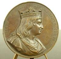 Medal Louis V le Idler King French Sc Keg 1838 Lazy French King Medal