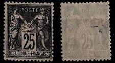 SAGE 25c noir sur rose, Neuf * Gommé = Cote 120 € / Lot Timbre France 97