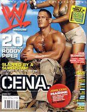 WWE MAGAZINE OCTOBER 2006 WRESTLING JOHN CENA RANDY ORTON EDGE BATISTA PUNK WWF