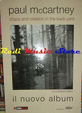 CARTONATO PROMO PAUL MCCARTNEY chaos creation BEATLES 48 X 68 cd dvd vhs lp live