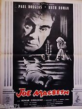 JOE MACBETH  ! affiche cinema 1955