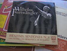 LP W. FURTWANGLER BRAHMS SINFONIA N.3 QALP10259 ITALY EX++/N-MINT RED SILVER LAB