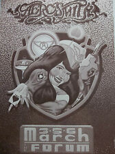 Aerosmith Original Concert Poster The Form Of Los Angeles Ca March 3/5/6 1989