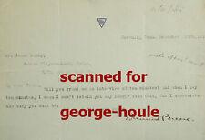 Edmund Breese - Letter - Signed - Vtg - Jesse Lasky - Marx Bros - Wayne - Capra