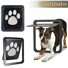 Pet Dog Cat Lockable Screen Door Footprint Pattern WindowScreen Doggie Flap Safe