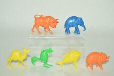 CEREAL PREMIUM MEXICAN R&L 6 FIGURES CRAZY ANIMALS TINYKINS 60'S