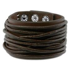 SilberDream Lederarmband dunkelbraun Herren Leder Armband LAP010B