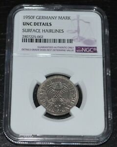 1950-F Germany Mark Graded by NGC as UNC Details