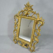 Antique Art Nouveau or Rococo Gilt Picture Frame w/ Mirror - Cast Bronze or Iron