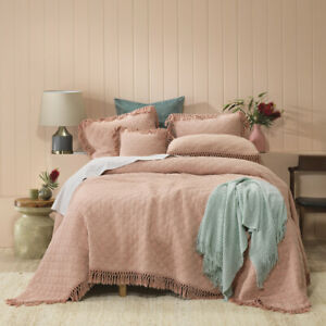 Bianca Keira Blush Coverlet Bedspread Single Double, Queen King, Super King Size