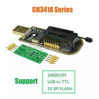EEPROM SPI FLASH BIOS USB Programmer Writer Burner 24/25 Serie USB To TTL CH341A