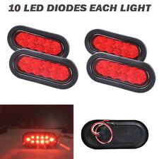 4X Trailer Truck Lights LED Sealed RED 6
