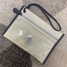 POLO JEANS CO Ralph Lauren Beige Pencil Toiletry Bag Makeup Travel Pouch