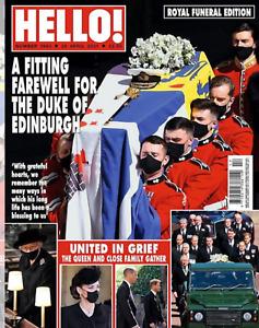 PRINCE PHILIP FUNERAL ISSUE: UK Hello! Magazine 26th April 2021