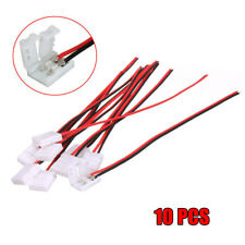 10Pcs PCB Cable 2 Pin LED Strip Connector 3528/5050 Single Color Adapter PVC