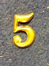 "Repro. CW  3/4"" Regimental Number ""5"" Brass Hat Device"