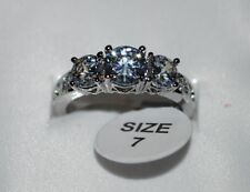 Diamond Round White Gold Filled Costume Rings