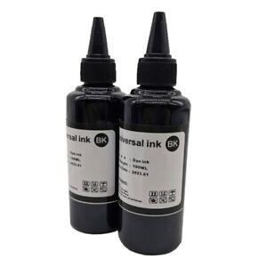 100ml x2 BK Color Universal Water Dye Based Black Ink Refill Kit Epson Canon HP