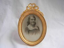 ANTIQUE FRENCH GILT BRONZE BRASS PHOTO FRAME,LOUIS XVI STYLE EARLY 20th CENTURY