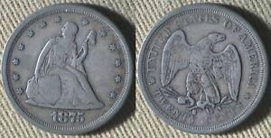 Twenty Cents : 1875S XF-/XF IRUS99A