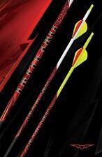 New Black Eagle Outlaw Carbon Arrows 350 White Crested & Blazer Vanes 1/2 Dozen