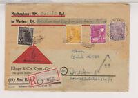 Gemeinsch.Ausg. Mi. 954 u.a., 73 Rpf. total unterfr. R-NN-Bad Blankenburg, 11.10