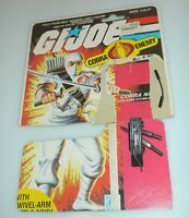 Lot 1984 GI Joe Storm Shadow v1 Figure Complete Accessory Set & File Card Back
