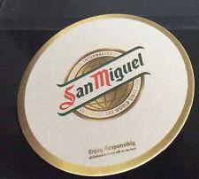 San Miguel beer mat/coaster new