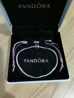925 Sterling Silver Pandora Chram Bracelet With Box Moment Sneak Chain Beads Ale