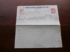 1952 Holcomb Produce Co.Store Invoice Advertising Acme Flour And Purina Chows