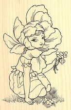 FAIRY FLOWER FAIRY Wood Mounted Rubber Stamp STAMPENDOUS Stamp P262 New