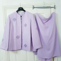 Classics Skirt Top Jacket Lilac Sz 22 3 piece Embellished Wedding Guest Formal