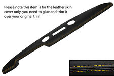 YELLOW STITCH PRE AIRFLOW TOP DASH DASHBOARD LEATHER COVER FITS FORD CORTINA MK1