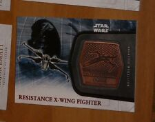 Topps STAR WARS Force Awakens Serie 2 Card MEDALLION 28 X-WING Carte Rare