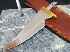 Knife Making mirror polished 5.25 in. Blade Blank Hidden tang File Work