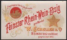 Etikett Feinster Rhein-Wein-Essig /vinegar label / etiquette de vinaigre  # 1868