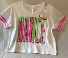 New Girls Justice Tank Top Smocked Shirt Size 14//16 Pink Black Multi