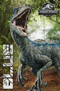 JURASSIC WORLD: FALLEN KINGDOM - MOVIE POSTER / PRINT (BLUE / DINOSAUR)
