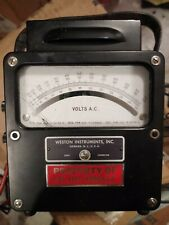 Antique Weston Early Electrical Instruments Zero Corrector AC Volts Panel Meter