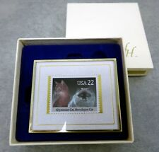 1991 Hanford Heirlooms Limited Edition Abyssinian & Himalayan Cat Framed Stamp